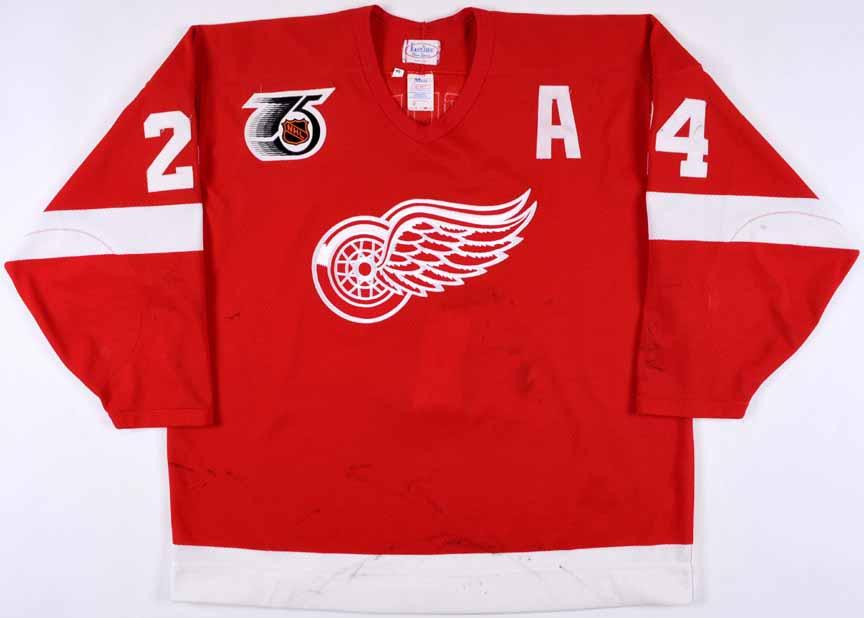 8573862d77c 1991-92 Bob Probert Detroit Red Wings Game Worn Jersey - Autographed ...
