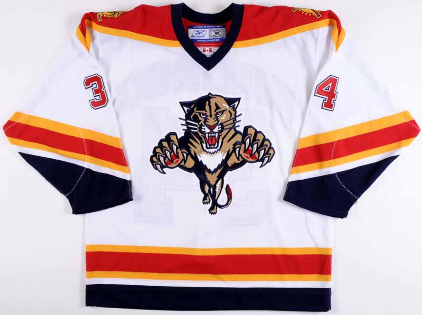 John Vanbiesbrouck Florida Panthers Autographed Authentic Jersey ... d611ec59e