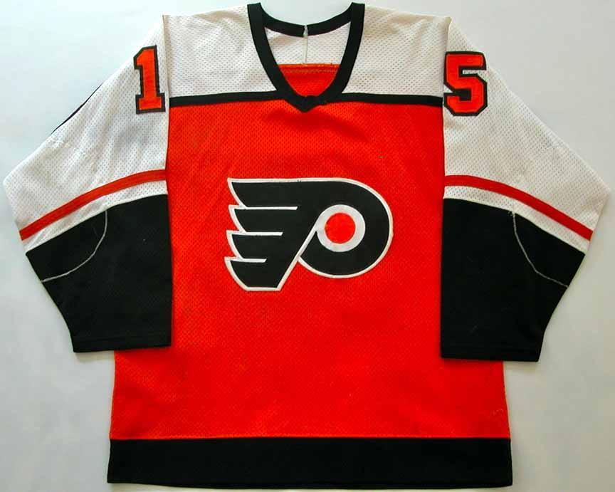 1983 84 Rich Sutter Philadelphia Flyers Game Worn Jersey