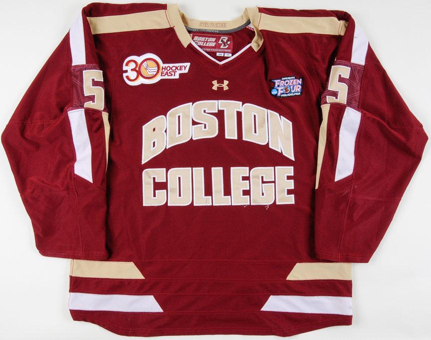 online retailer 2223c 5db82 2013-14 Michael Matheson Boston College Game Worn Jersey ...