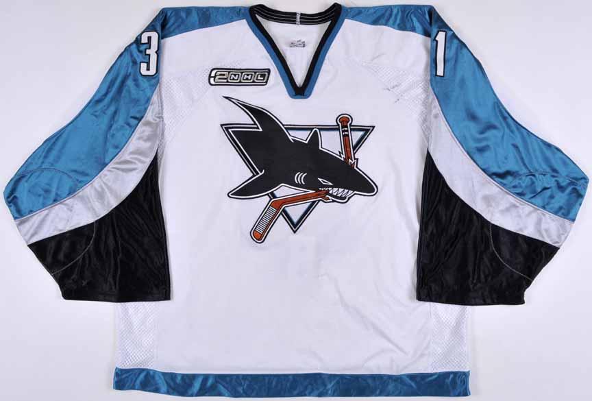 1999-00 Steve Shields San Jose Sharks Game Worn Jersey