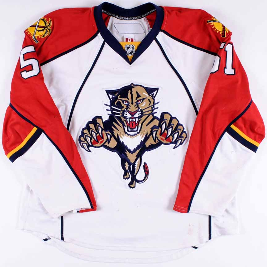 new arrival 82e65 c72a1 2007-08 Rob Globke Florida Panthers Game Worn Jersey - Last ...