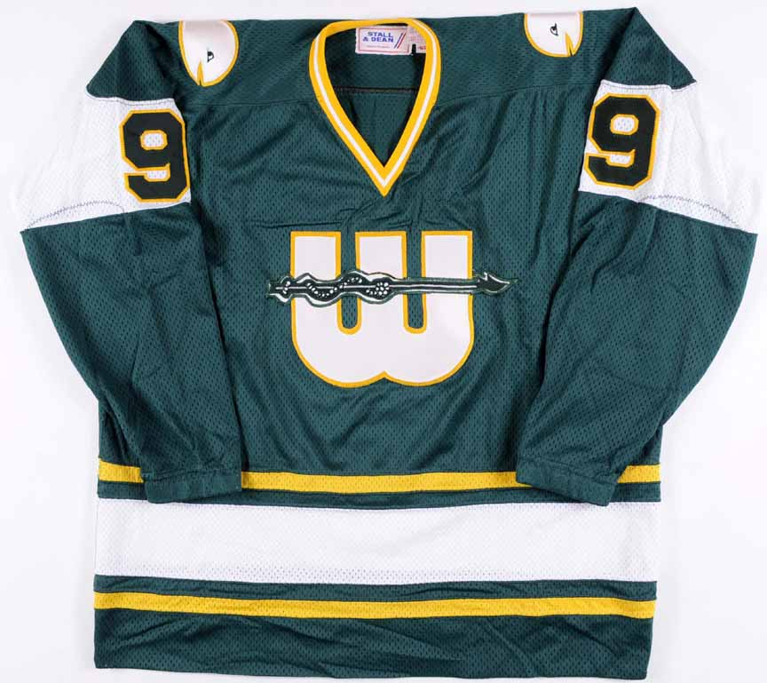 buy online 1c48f 09ab3 Gordie Howe WHA New England Whalers Replica Jersey ...