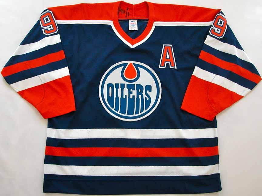 big sale 11a6f d18f9 1989-90 Glenn Anderson Edmonton Oilers Game Worn Jersey ...
