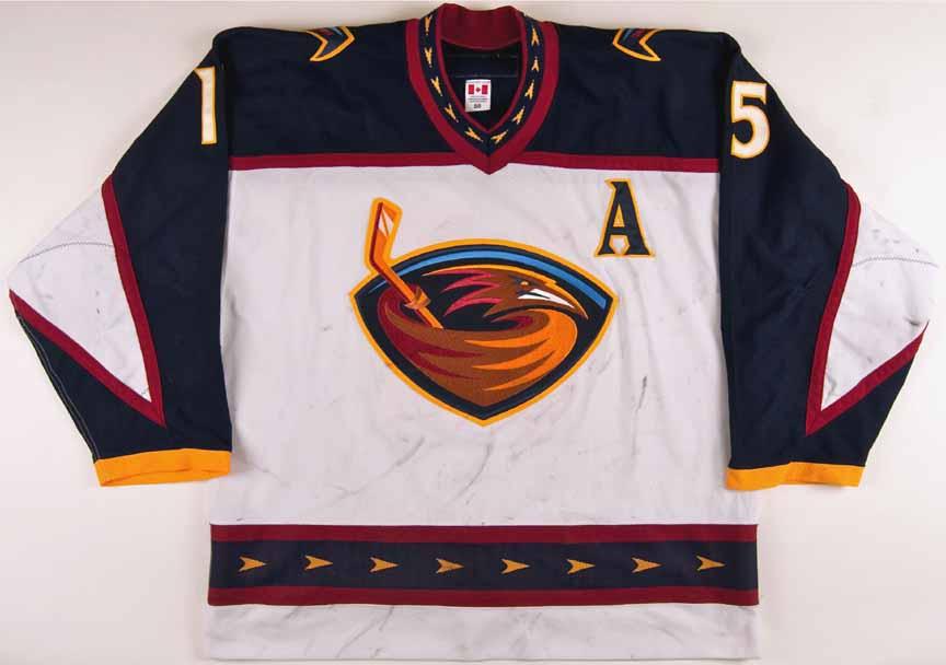 2002-03 Dany Heatley Atlanta Thrashers Game Worn Jersey - NHL Letter ... 076b87164