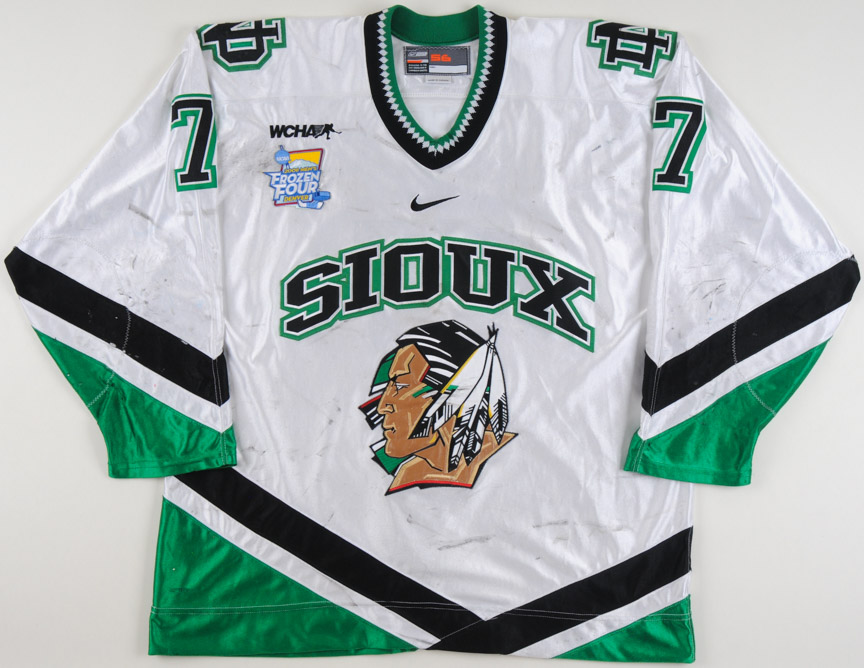 "2007-08 T.J. Oshie University of North Dakota Game Worn Jersey – ""2008  Denver 9d02b5c2e4a"