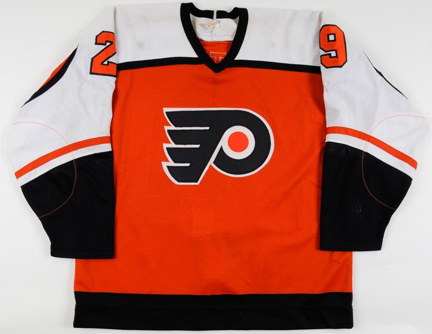 in stock 72bac a80a2 1987-88 Nick Fotiu Philadelphia Flyers Game Worn Jersey ...