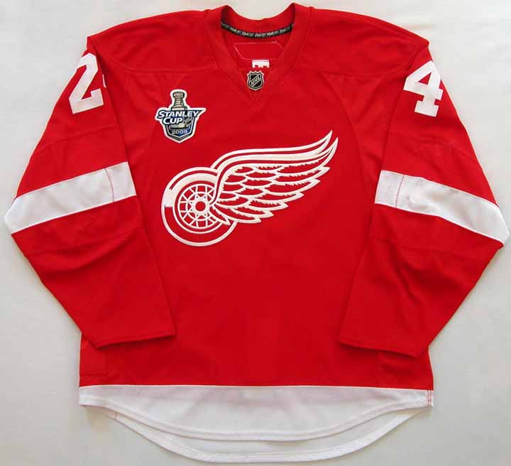 2007-08 Chris Chelios Red Wings Game Worn Jersey -
