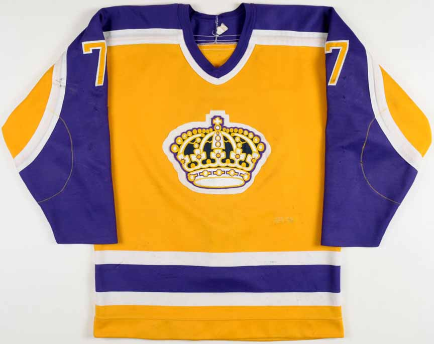 separation shoes a11a3 d1fd6 1984-85 Phil Sykes Los Angeles Kings Game Worn Jersey ...