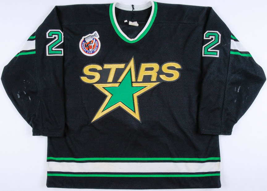 1992-93 Derian Hatcher Minnesota North Stars Game Worn Jersey - 2nd NHL  Season 55bd0a69ffd