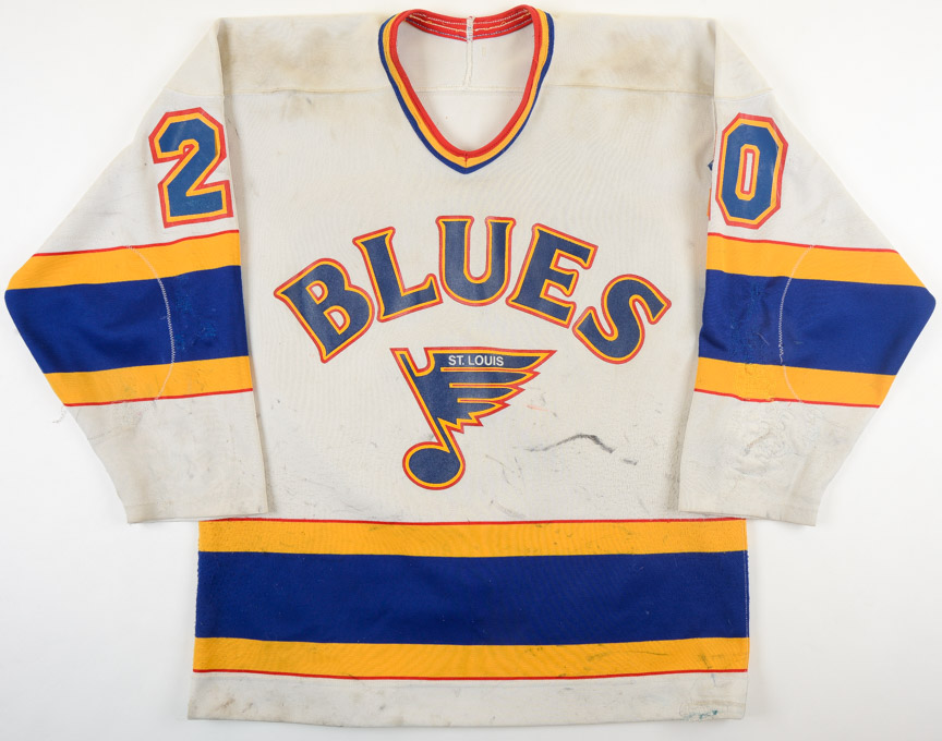 1985-86 Mark Hunter St. Louis Blues Game Worn Jersey