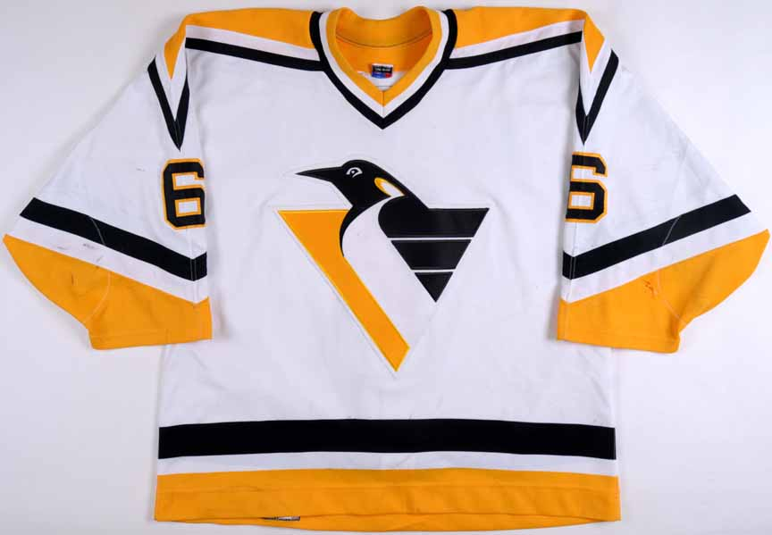 395a0ada4 1995-96 Neil Wilkinson Pittsburgh Penguins Game Worn Jersey ...