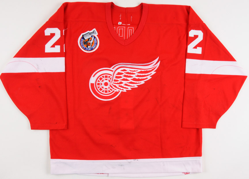387078b4a 1992-93 Dino Ciccarelli Detroit Red Wings Game Worn Jersey – Team Letter