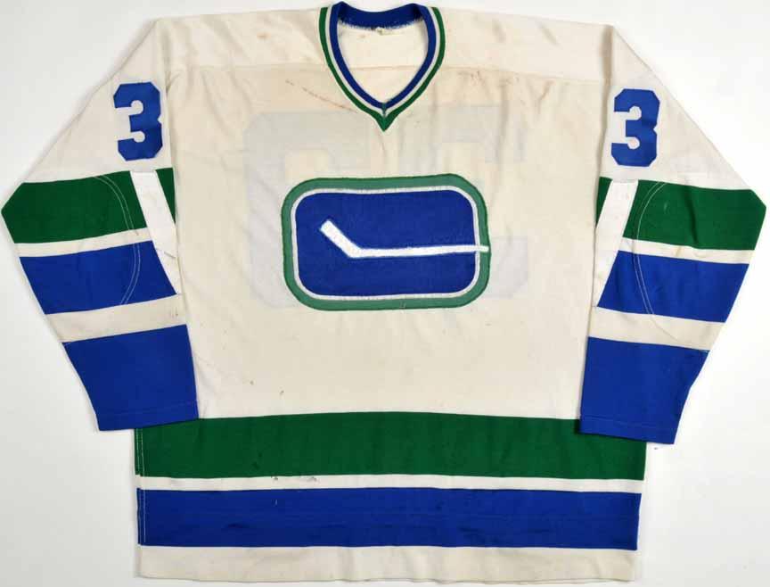 1970-72 Murray Hall Vancouver Canucks Game Worn Jersey - Inaugural Season f9a68e5fad9