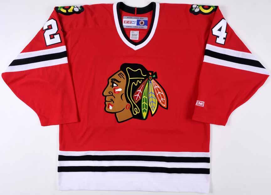 b77ab79ea68 Bob Probert Chicago Blackhawks Autographed Replica Jersey – Deceased ...