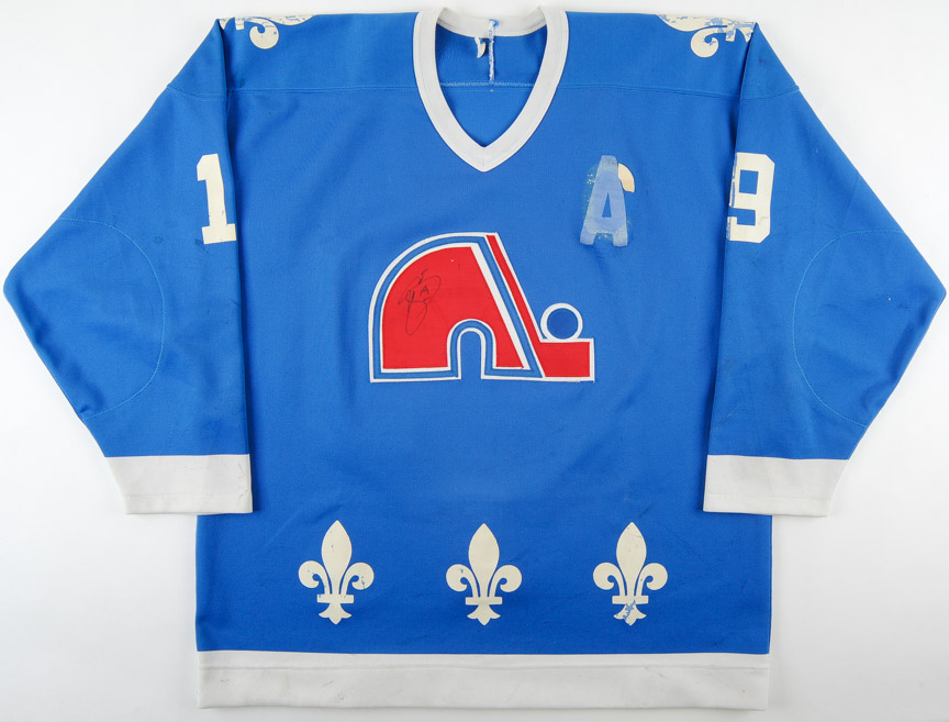 low priced daa51 4faaa 1989-90 Joe Sakic Quebec Nordiques Game Worn Jersey - 2nd ...