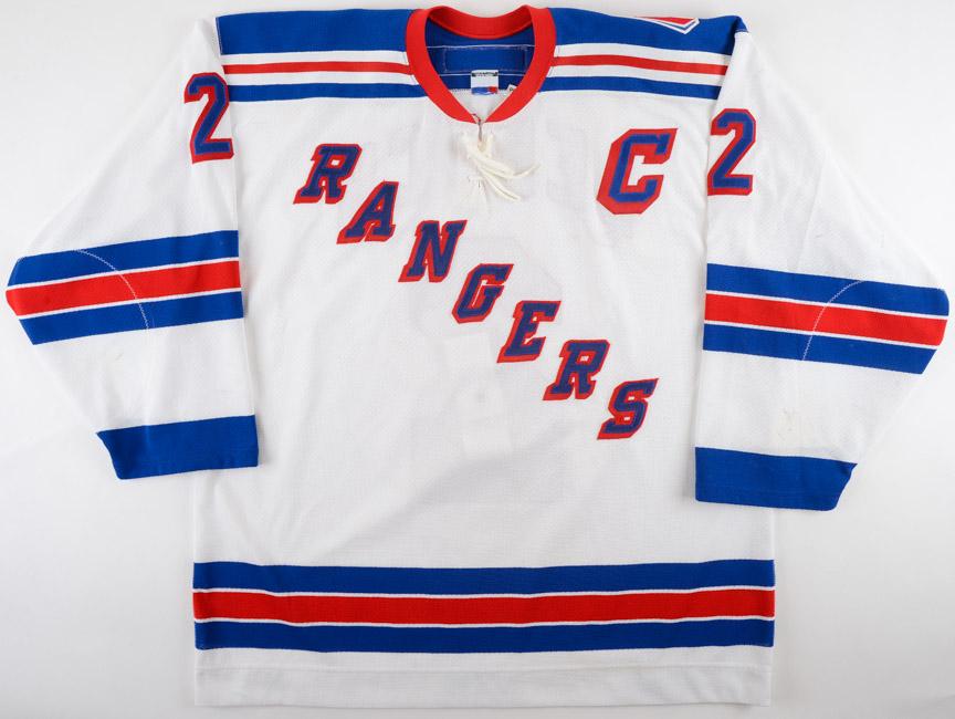 2001-02 Brian Leetch New York Rangers Game Worn Jersey