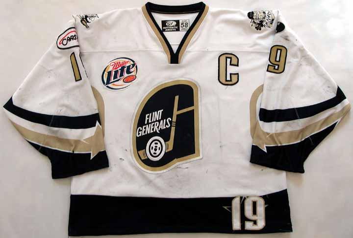 2003-04 Jim Duhart UHL Flint Generals Game Worn Jersey -