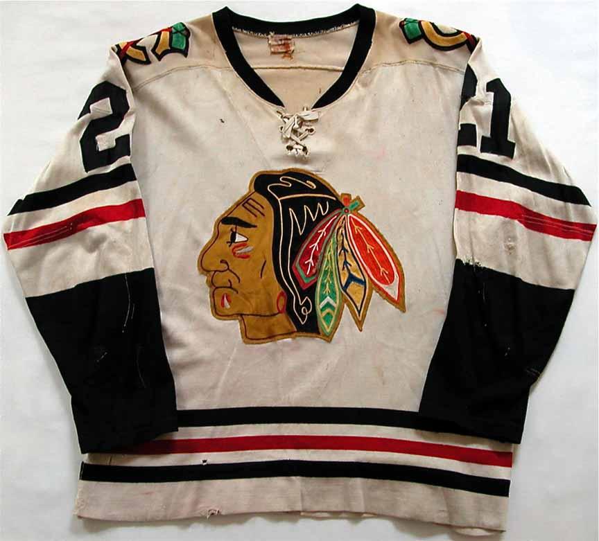 ... Blackhawks Vintage Replica Jersey 1960 (Red) 1959-60 or 1960-61 Stan  Mikita Chicago Black Hawks Game Worn Jersey ... 8b3ef5b42
