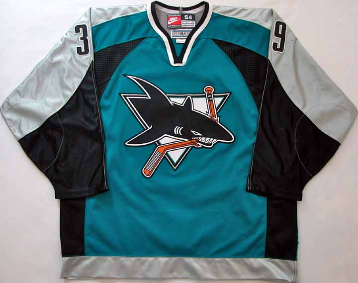 A Critique in NHL Jerseys  San Jose Sharks Home Away 1998-2007 68856dee9