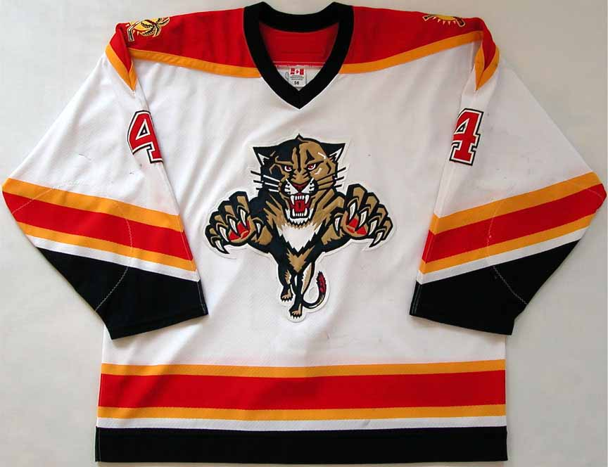 sports shoes 90832 07404 2005-06 Jay Bouwmeester Florida Panthers Game Worn Jersey ...