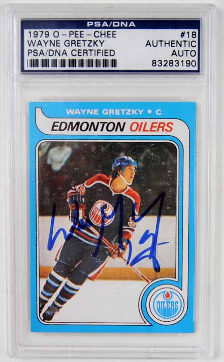 1979 80 Opc Wayne Gretzky Edmonton Oilers Autographed Rookie Card