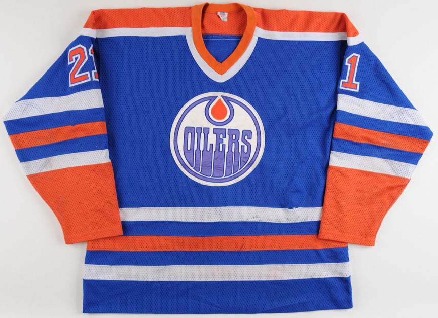 uk availability 01d71 c408c 1984-85 Randy Gregg Edmonton Oilers Game Worn Jersey ...