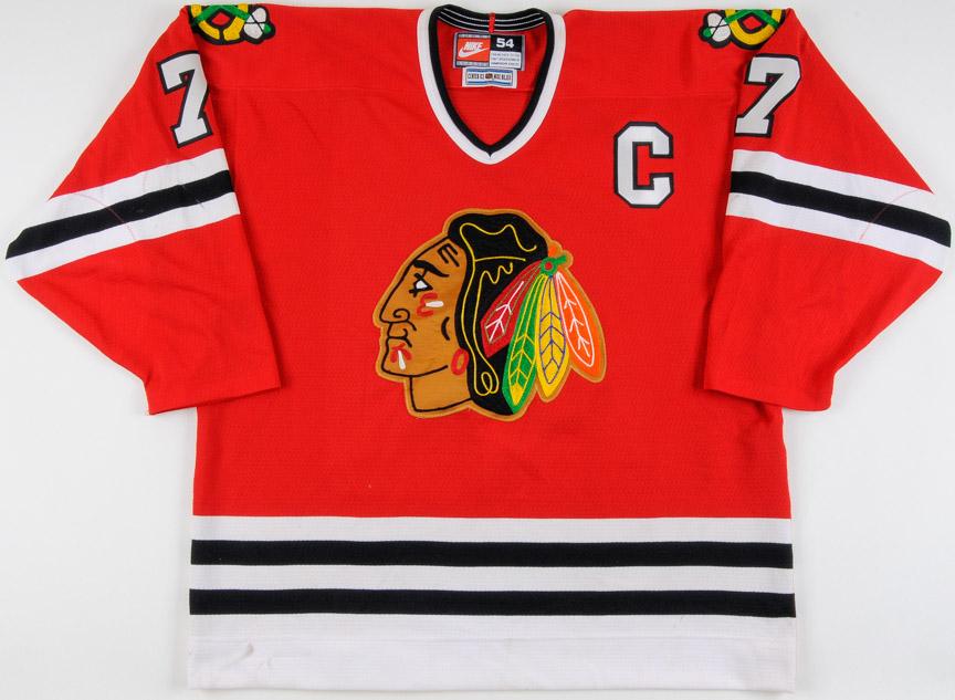 online store 863a2 21235 1996-97 Chris Chelios Chicago Blackhawks Game Worn Jersey ...