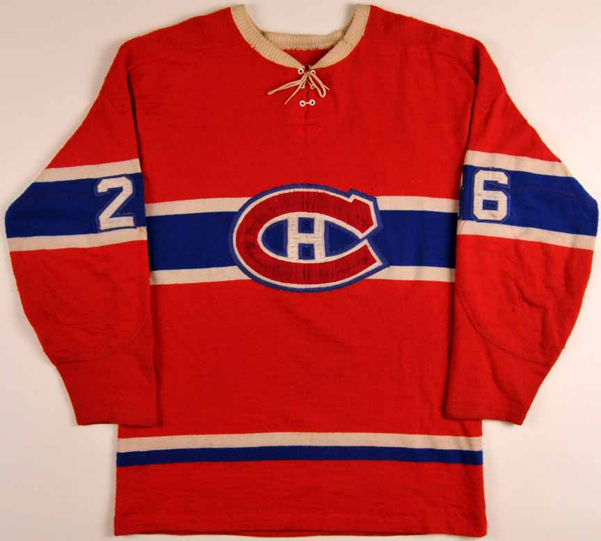 newest collection 9b8d4 04cd8 1966-67 Jimmy Roberts Montreal Canadiens Game Worn Jersey ...