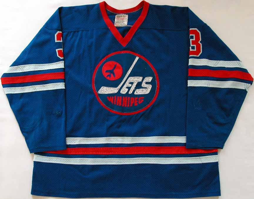 huge selection of 93ef4 1d89c 1976-77 Barry Long WHA Winnipeg Jets Game Worn Jersey ...