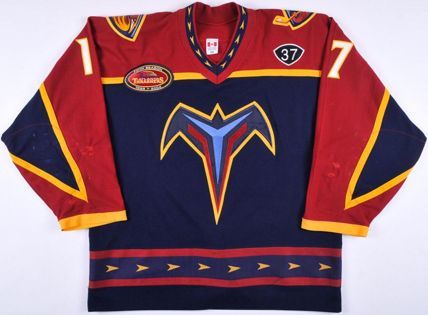 e36f050109d ... buy 2003 04 ilya kovalchuk atlanta thrashers game worn jersey 5 year  anniversary 15b2f 34be2