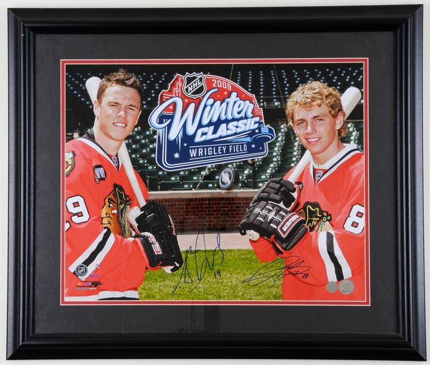 37f7642a1 Jonathan Toews   Patrick Kane Chicago Blackhawks 2009 Winter Classic  Autographed Display – NHL Authenticated