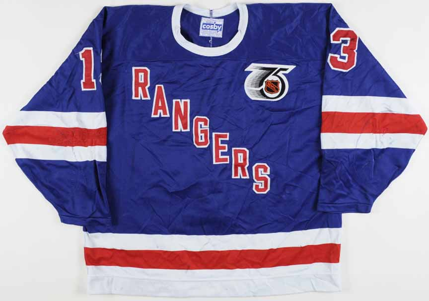 25e93c146 1991-92 Sergei Nemchinov New York Rangers Game Worn Jersey - Rookie - Turn  Back