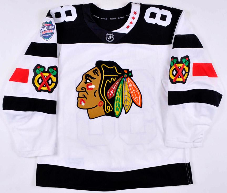 0e2b5ff6e70 2015-16 Patrick Kane Chicago Blackhawks Stadium Series Game Worn Jersey -  Hart Trophy -