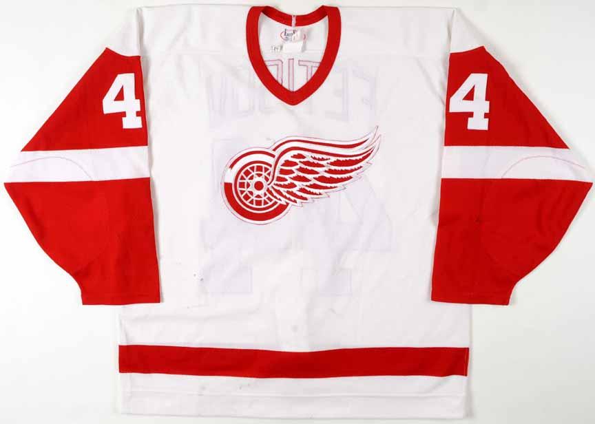 08722be4c 1994-95 Slava Fetisov Detroit Red Wings Game Worn Jersey ...