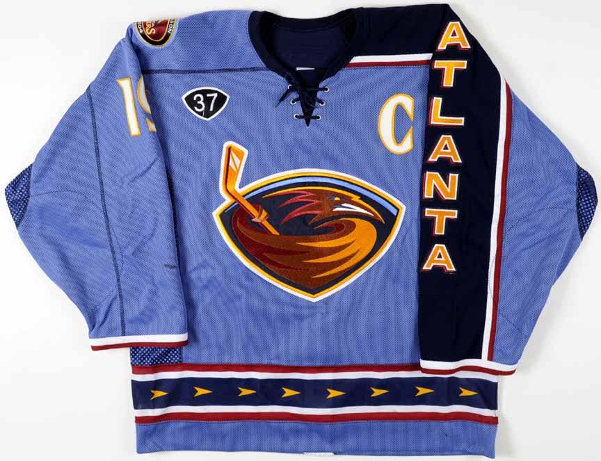 2003-04 Shawn McEachern Atlanta Thrashers Game Worn Jersey - Alternate -