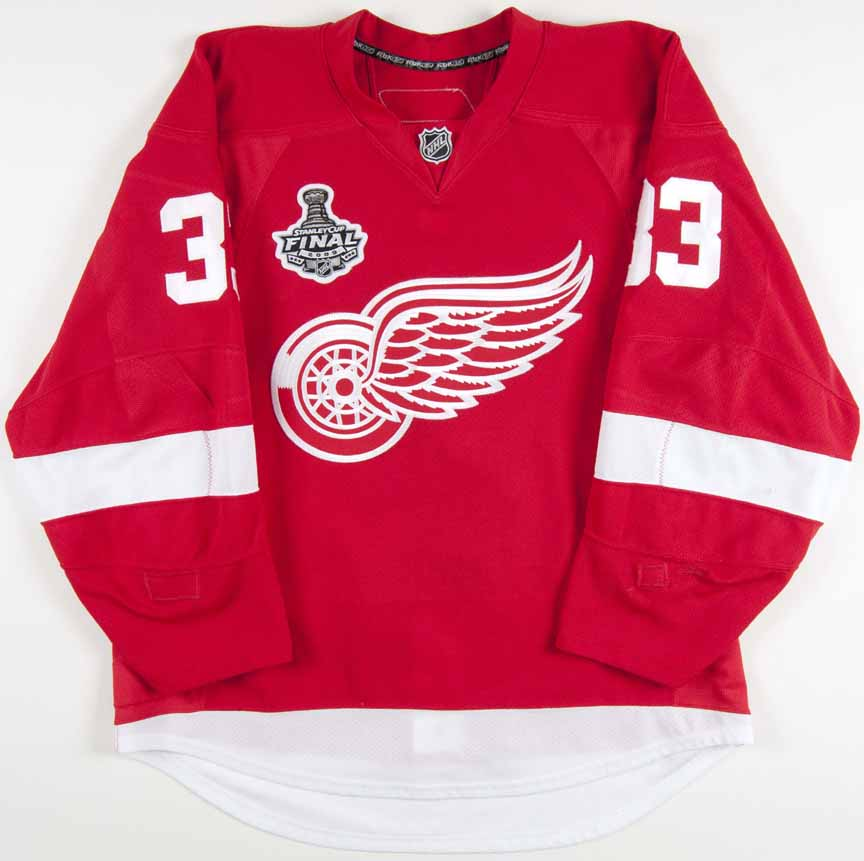 af4a12582 2008-09 Kris Draper Detroit Red Wings Stanley Cup Finals Game Worn Jersey -