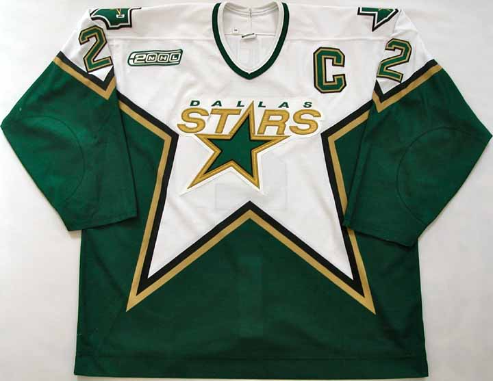 f10c9d128 1999-00 Derian Hatcher Stars Game Worn Jersey - Team Letter ...