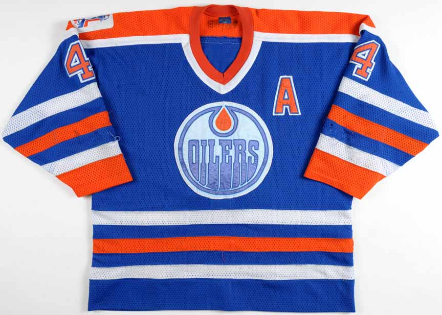 info for bf161 de0b7 1988-89 Kevin Lowe Edmonton Oilers Game Worn Jersey ...