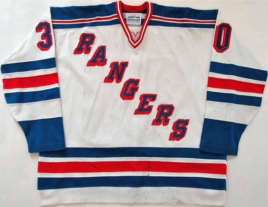 best website 1e67f 774f2 1985 Grant Ledyard New York Rangers Game Worn Jersey ...