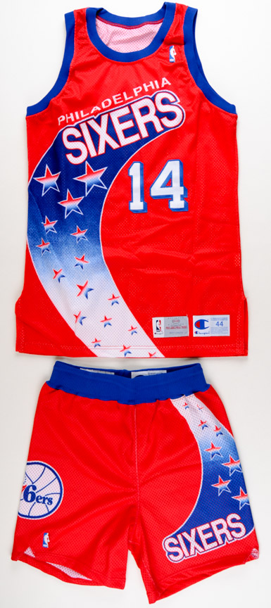 official photos 730be 884a8 1993-94 Jeff Hornacek Philadelphia 76ers Game Worn Jersey ...
