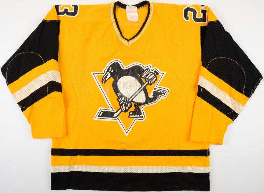 sale retailer 86e80 28436 1982-83 Gary Rissling Pittsburgh Penguins Game Worn Jersey ...