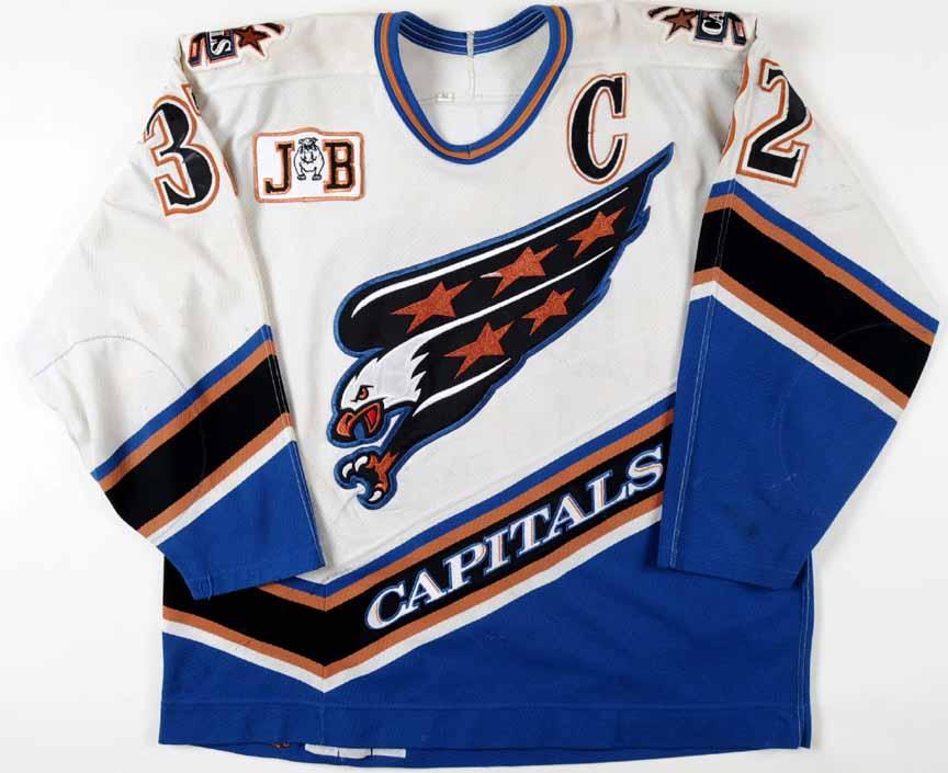 best website 11e14 1f30d 1996-97 Dale Hunter Washington Capitals Game Worn Jersey ...