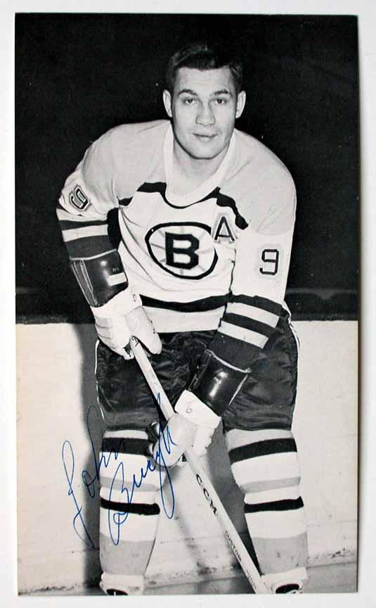 John Bucyk Boston Bruins Autographed Postcard  GAMEWORNAUCTIONS.NET 483c8315d