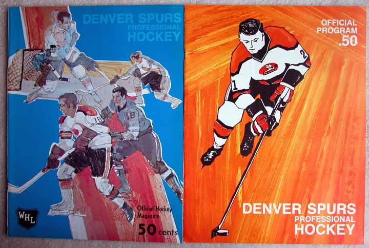 Denver Spurs Official Hockey Program Lot Of 2
