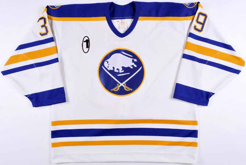 "7206fe00a 1995-96 Dominik Hasek Buffalo Sabres Game Worn Jersey – ""1"" - Dom s ..."