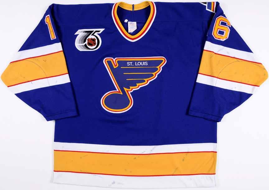 pretty nice e8add 19c54 1991-92 Brett Hull St. Louis Blues Game Worn Jersey – -Blues ...