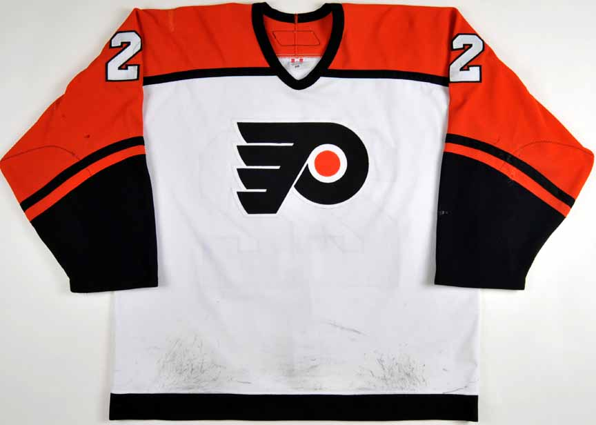 2005-06 Mike Knuble Philadelphia Flyers Game Worn Jersey - Photo Match - NHL  Letter e539ed531