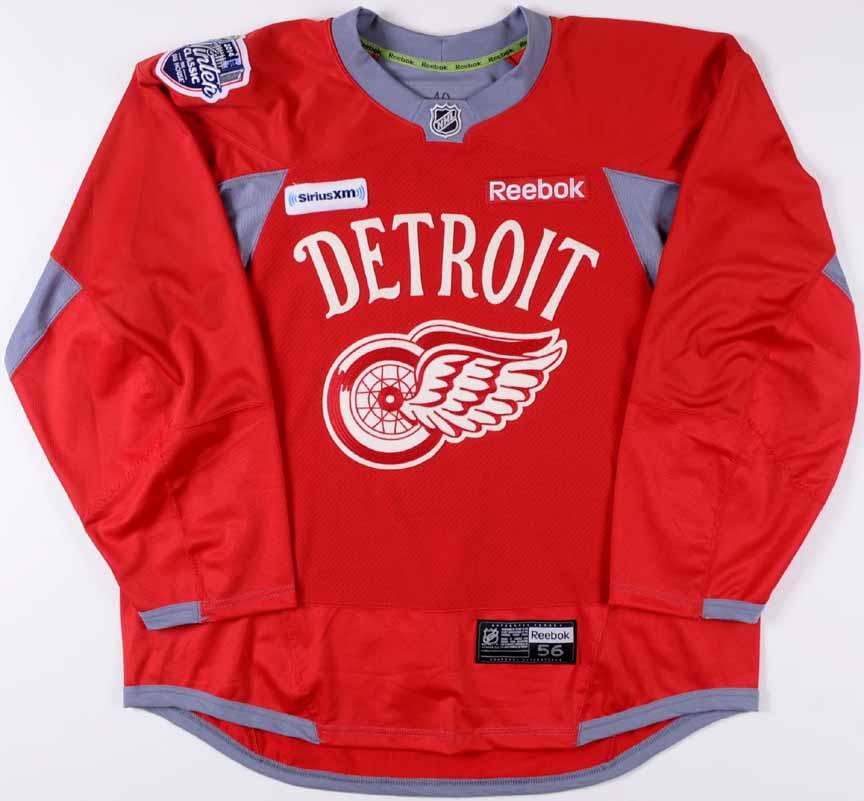 "2013-14 Henrik Zetterberg Detroit Red Wings Winter Classic Practice Worn  Jersey – ""2014 17da8b615"