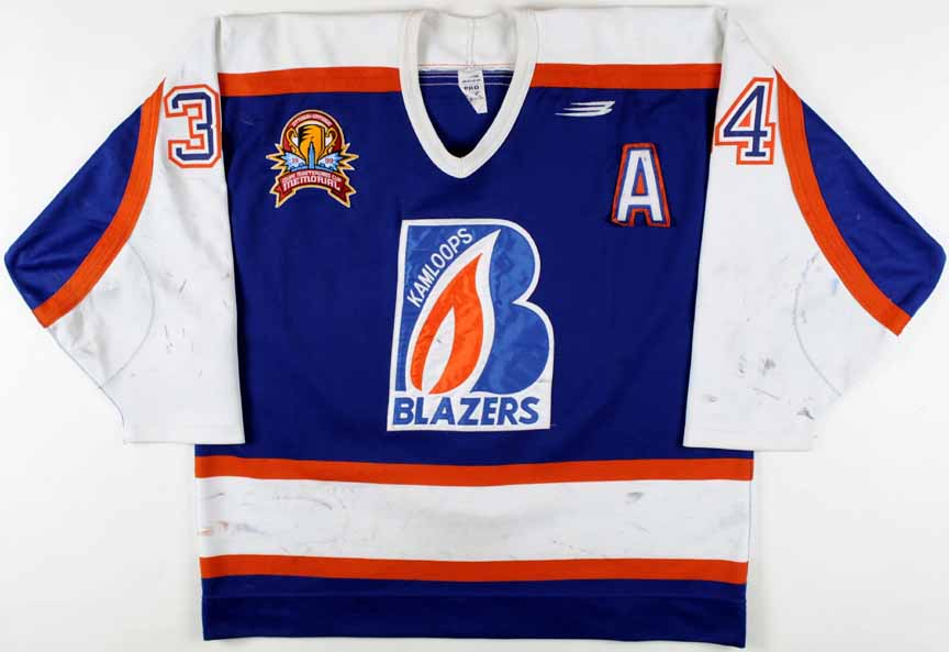 1998-99 Jared Aulin Kamloops Blazers Game Worn Jersey -